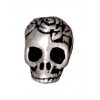 Spacer Skull 10mm Antique Silver